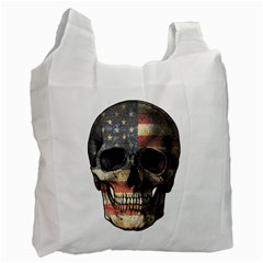 American Flag Skull Recycle Bag (one Side) by Valentinaart