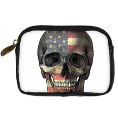 American Flag Skull Digital Camera Cases