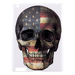 American Flag Skull Apple Ipad 3/4 Hardshell Case by Valentinaart