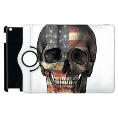 American Flag Skull Apple Ipad 2 Flip 360 Case