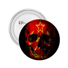 Russian Flag Skull 2 25  Buttons