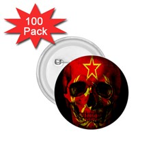 Russian Flag Skull 1 75  Buttons (100 Pack)  by Valentinaart
