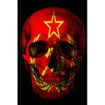 Russian flag skull 5.5  x 8.5  Notebooks Back Cover Inside