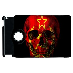 Russian Flag Skull Apple Ipad 3/4 Flip 360 Case