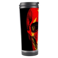 Russian Flag Skull Travel Tumbler