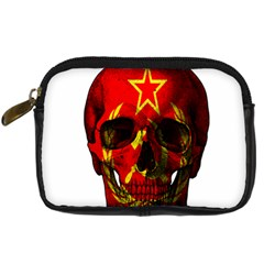 Russian Flag Skull Digital Camera Cases by Valentinaart