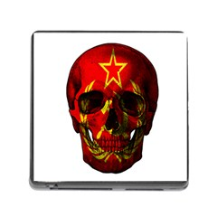 Russian Flag Skull Memory Card Reader (square)
