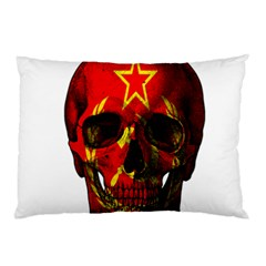Russian Flag Skull Pillow Case (two Sides)