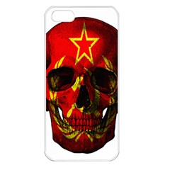 Russian Flag Skull Apple Iphone 5 Seamless Case (white) by Valentinaart