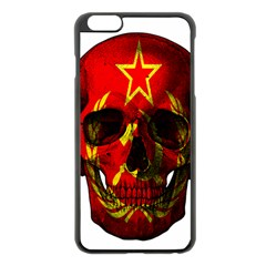 Russian Flag Skull Apple Iphone 6 Plus/6s Plus Black Enamel Case by Valentinaart