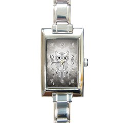 Wonderful Owl, Mandala Design Rectangle Italian Charm Watch by FantasyWorld7