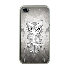 Wonderful Owl, Mandala Design Apple Iphone 4 Case (clear) by FantasyWorld7