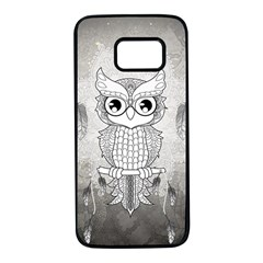 Wonderful Owl, Mandala Design Samsung Galaxy S7 Black Seamless Case by FantasyWorld7
