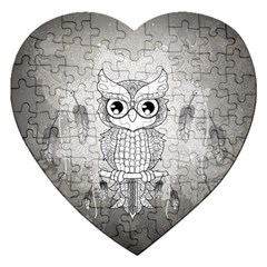 Wonderful Owl, Mandala Design Jigsaw Puzzle (heart) by FantasyWorld7
