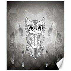 Wonderful Owl, Mandala Design Canvas 20  X 24   by FantasyWorld7