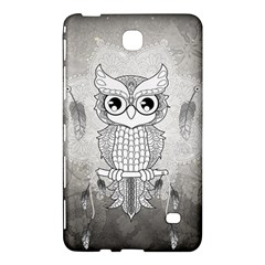 Wonderful Owl, Mandala Design Samsung Galaxy Tab 4 (7 ) Hardshell Case  by FantasyWorld7