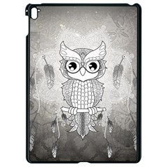 Wonderful Owl, Mandala Design Apple Ipad Pro 9 7   Black Seamless Case by FantasyWorld7