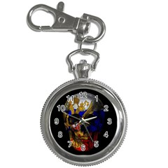 Russian Flag Skull Key Chain Watches