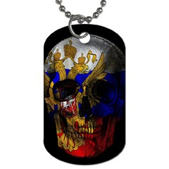 Russian Flag Skull Dog Tag (two Sides) by Valentinaart
