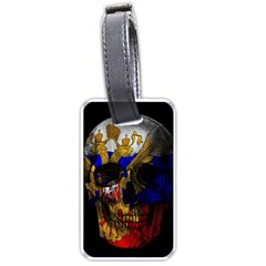 Russian Flag Skull Luggage Tags (one Side)  by Valentinaart