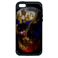 Russian Flag Skull Apple Iphone 5 Hardshell Case (pc+silicone) by Valentinaart