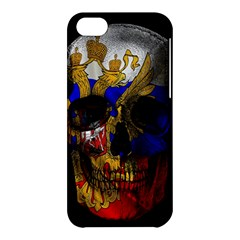 Russian Flag Skull Apple Iphone 5c Hardshell Case by Valentinaart