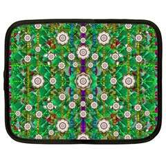 Pearl Flowers In The Glowing Forest Netbook Case (xl)  by pepitasart