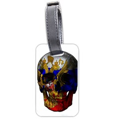 Russian Flag Skull Luggage Tags (two Sides)