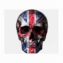 Uk Flag Skull Small Glasses Cloth by Valentinaart