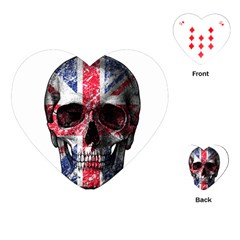 Uk Flag Skull Playing Cards (heart)  by Valentinaart