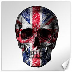 Uk Flag Skull Canvas 20  X 20   by Valentinaart
