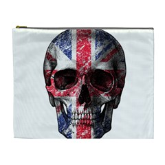 Uk Flag Skull Cosmetic Bag (xl) by Valentinaart