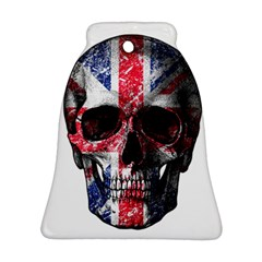 Uk Flag Skull Ornament (bell) by Valentinaart