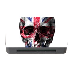 Uk Flag Skull Memory Card Reader With Cf by Valentinaart