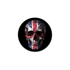 Uk Flag Skull Golf Ball Marker