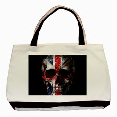 Uk Flag Skull Basic Tote Bag (two Sides) by Valentinaart