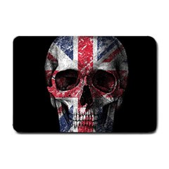 Uk Flag Skull Small Doormat  by Valentinaart