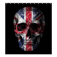 Uk Flag Skull Shower Curtain 66  X 72  (large)  by Valentinaart