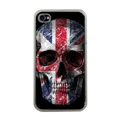 Uk Flag Skull Apple Iphone 4 Case (clear)