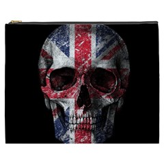 Uk Flag Skull Cosmetic Bag (xxxl)  by Valentinaart