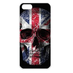 Uk Flag Skull Apple Iphone 5 Seamless Case (white)