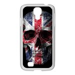 UK flag skull Samsung GALAXY S4 I9500/ I9505 Case (White) Front
