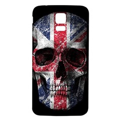 Uk Flag Skull Samsung Galaxy S5 Back Case (white) by Valentinaart