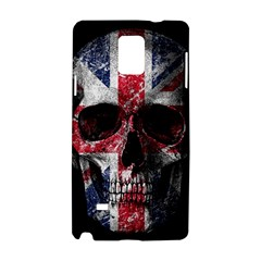 Uk Flag Skull Samsung Galaxy Note 4 Hardshell Case by Valentinaart