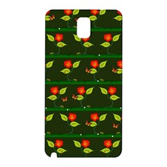 Plants And Flowers Samsung Galaxy Note 3 N9005 Hardshell Back Case by linceazul