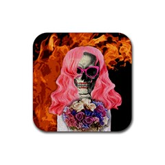 Bride From Hell Rubber Coaster (square)  by Valentinaart