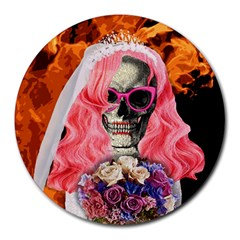 Bride From Hell Round Mousepads by Valentinaart