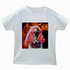Bride From Hell Kids White T Shirts by Valentinaart