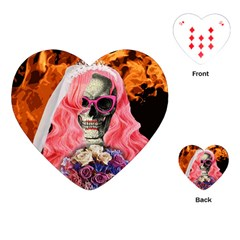Bride From Hell Playing Cards (heart)  by Valentinaart