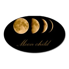 Moon Child Oval Magnet